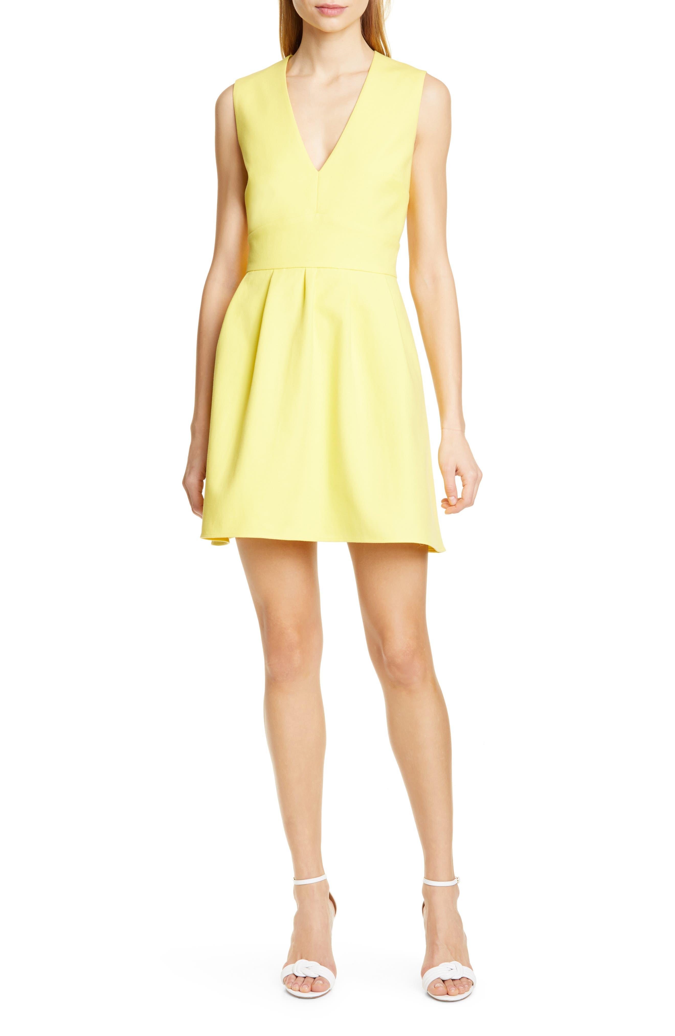 Ba & sh Wilson Fit & Flare Minidress, Yellow