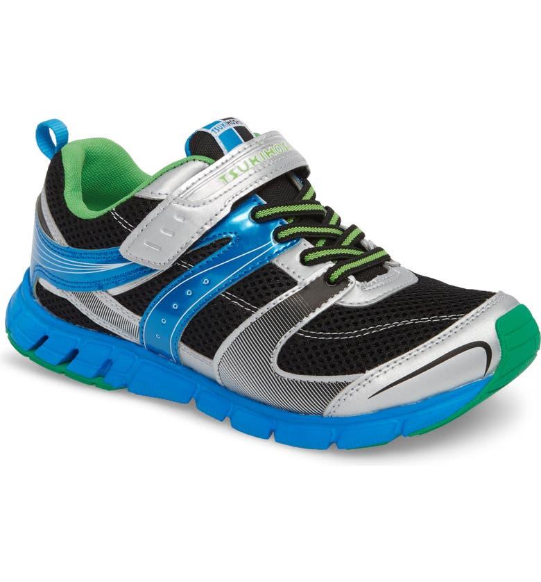 TSUKIHOSHI Velocity Washable Sneaker, Main, color, SILVER/ BLACK