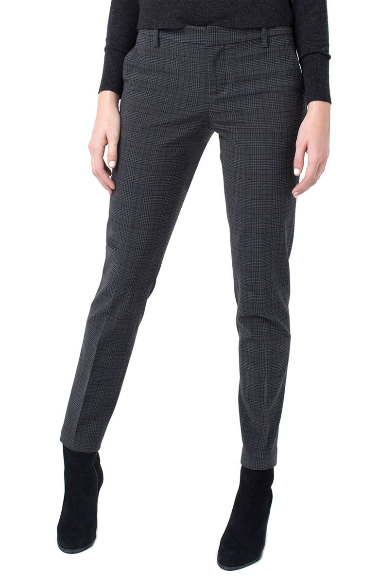 LIVERPOOL Kelsey Slim Trousers, Main, color, GRAY BLACK