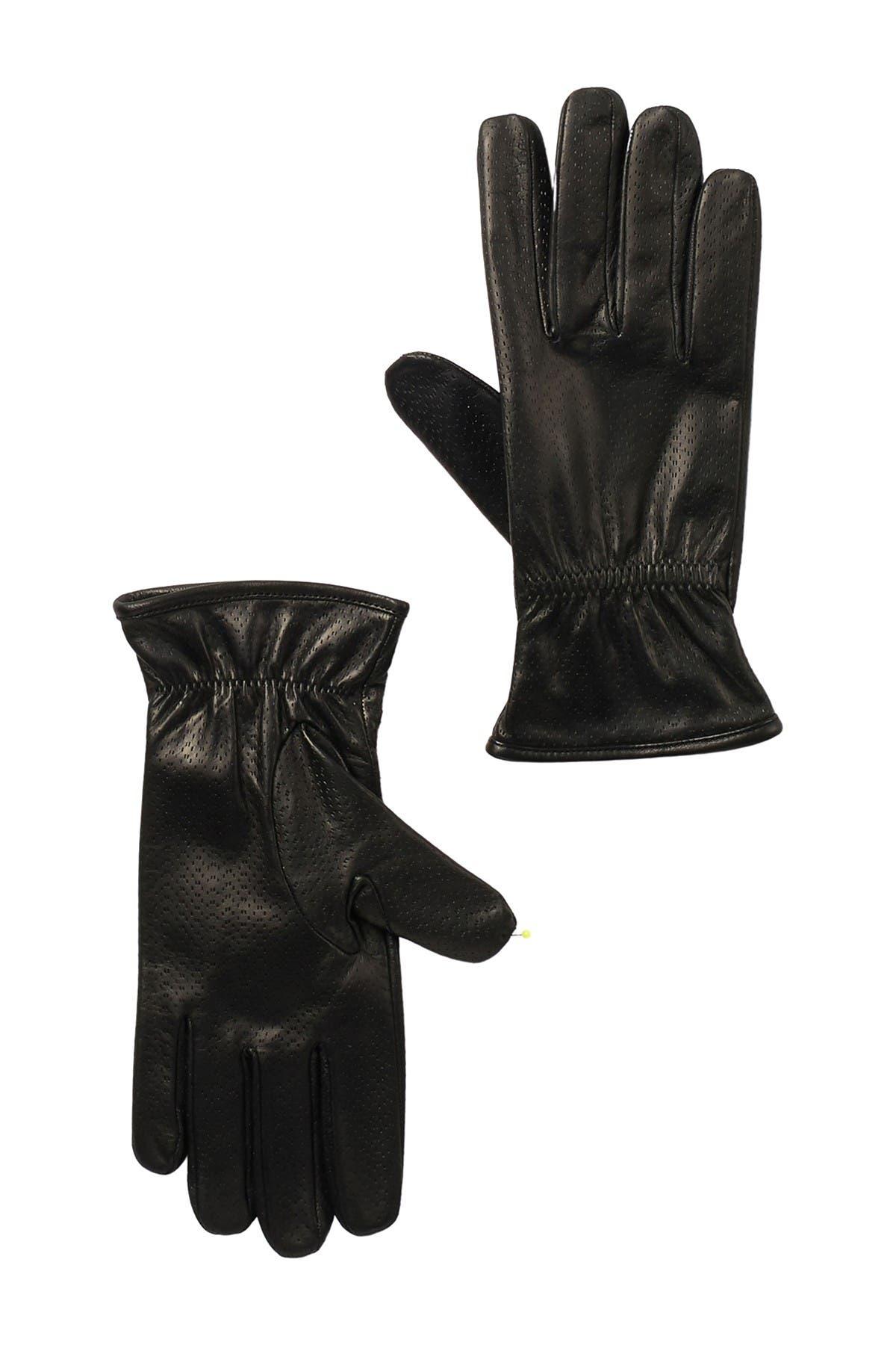 Image of Portolano Perforated Nappa Leather Gloves