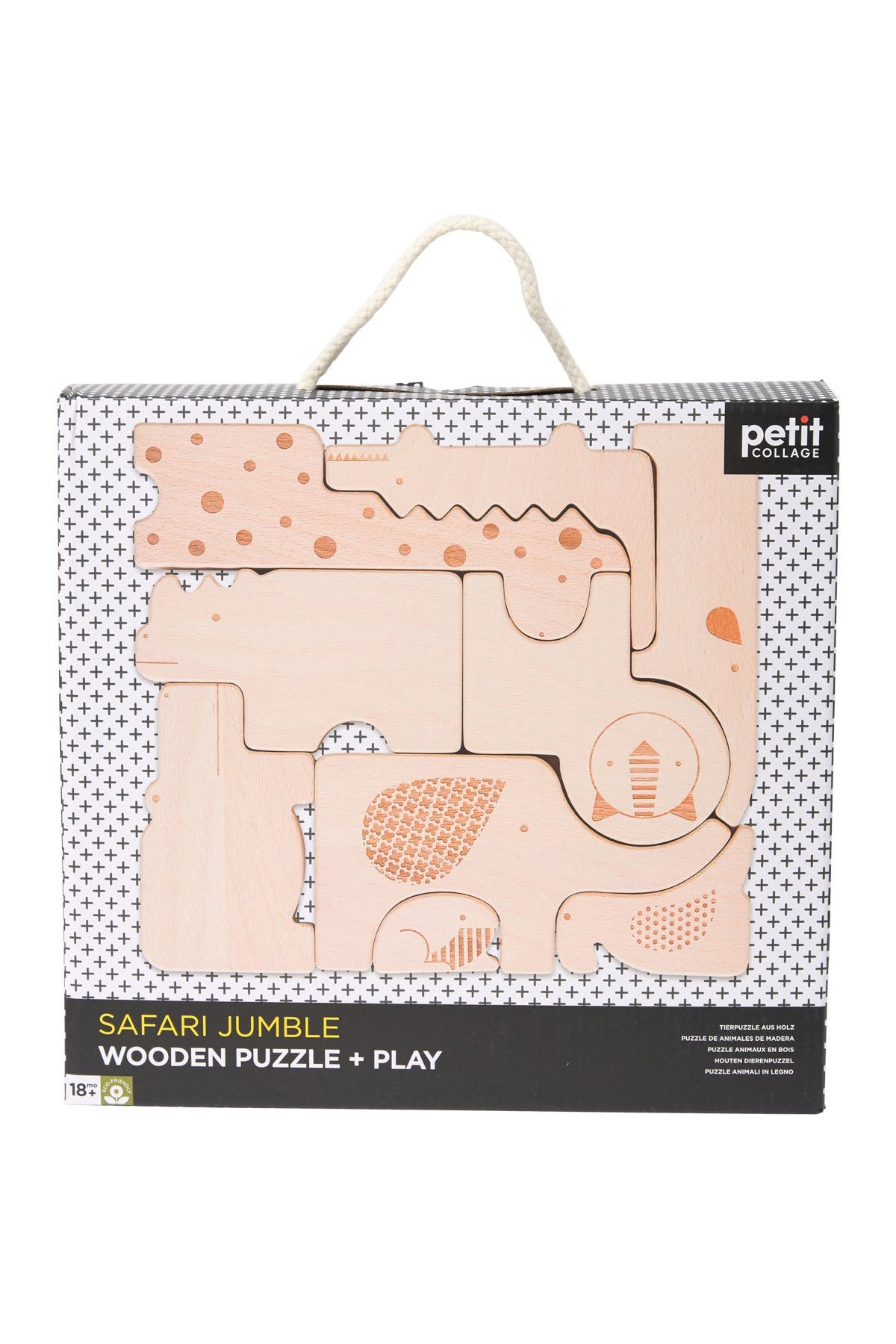 Image of WILD AND WOLF Safari Wooden Animal Puzzle