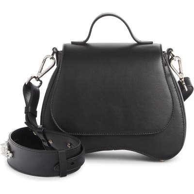 Simone Rocha Mini Bean Top Handle Leather Bag - Black