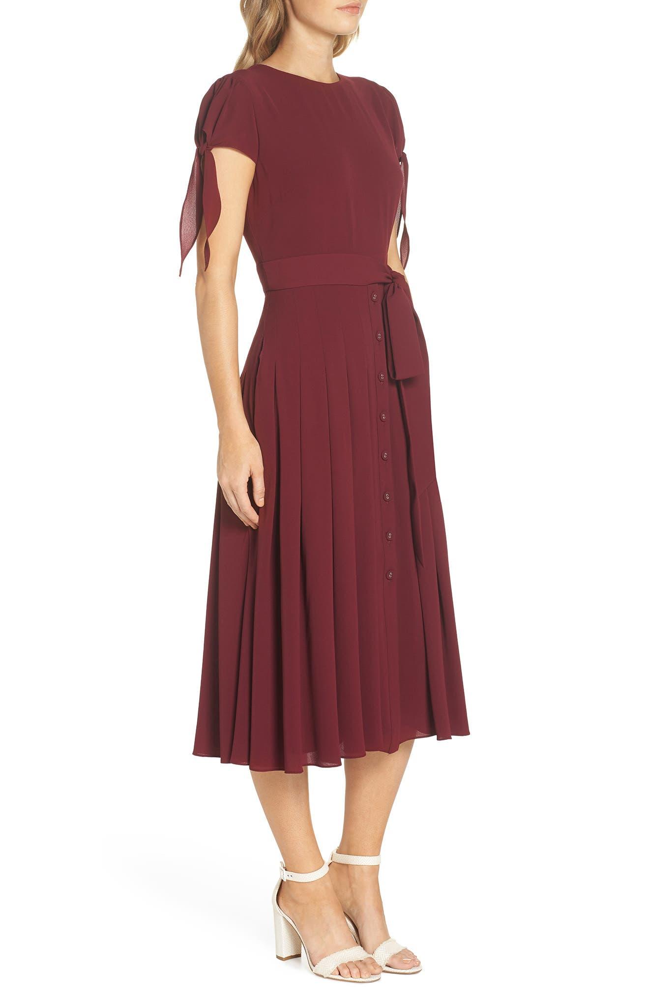 ,                             Bette Pleated Midi Dress,                             Alternate thumbnail 11, color,                             655