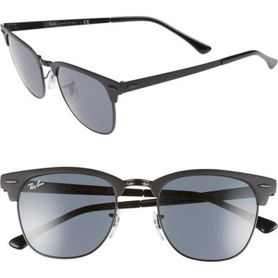 Ray-Ban Icons 51Mm Browline Sunglasses - Shiny Black