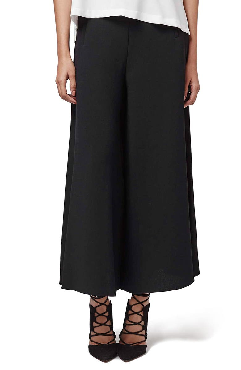 TOPSHOP Palazzo Trousers, Main, color, 001