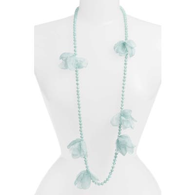 Stella + Ruby Ellie Long Beaded Chiffon Necklace