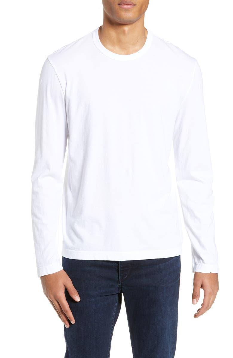 JAMES PERSE Lotus Graphic Long Sleeve Crewneck T-Shirt, Main, color, 100
