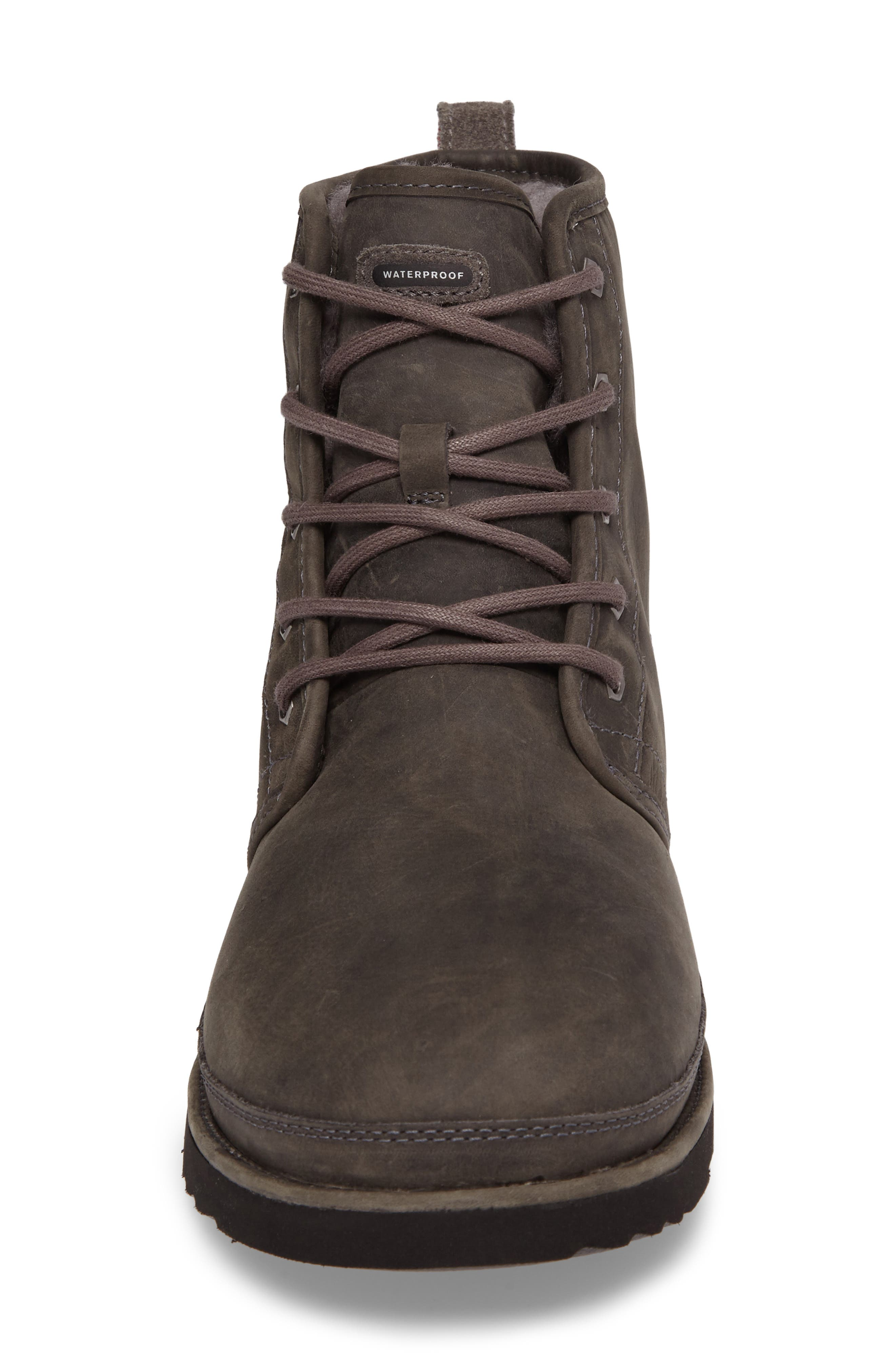 ,                             Harkley Plain Toe Waterproof Waterproof Boot,                             Alternate thumbnail 4, color,                             CHARCOAL