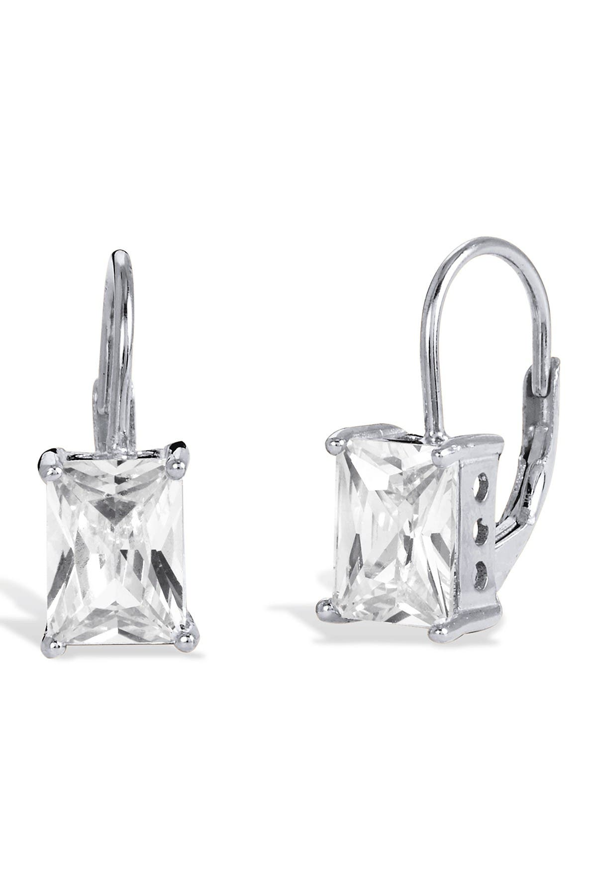 Image of Savvy Cie Sterling Silver Cubic Zirconia Earrings