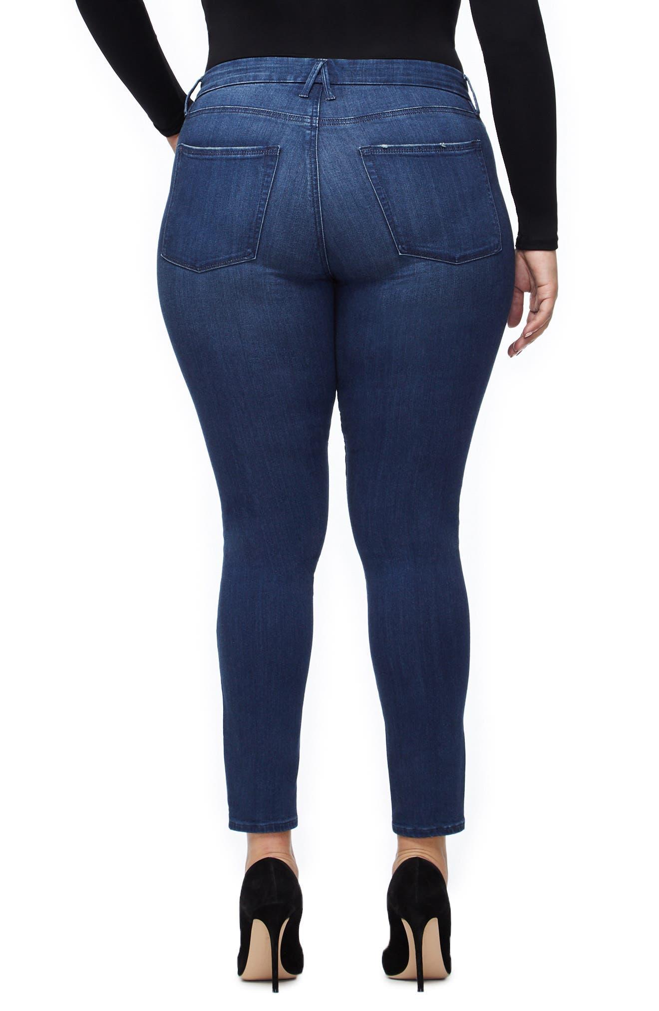 ,                             Good Legs High Waist Skinny Jeans,                             Alternate thumbnail 5, color,                             BLUE211