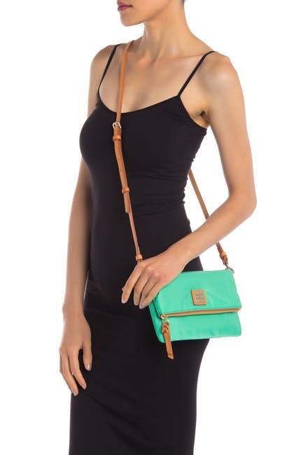 Image of Dooney & Bourke Foldover Zip Nylon Crossbody Bag