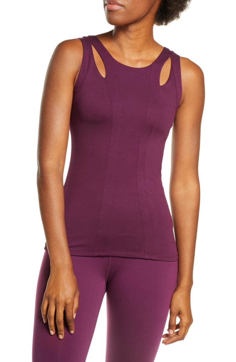 ALO Long Arch Tank, Main, color, BLACK PLUM