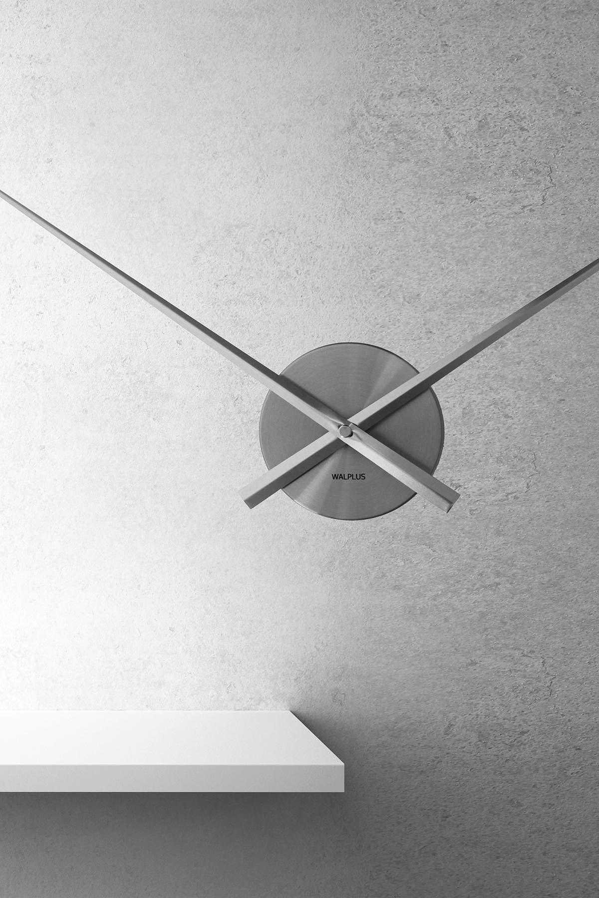 Image of WalPlus Grey Designer Flexi Minimal Wall Clock Silver
