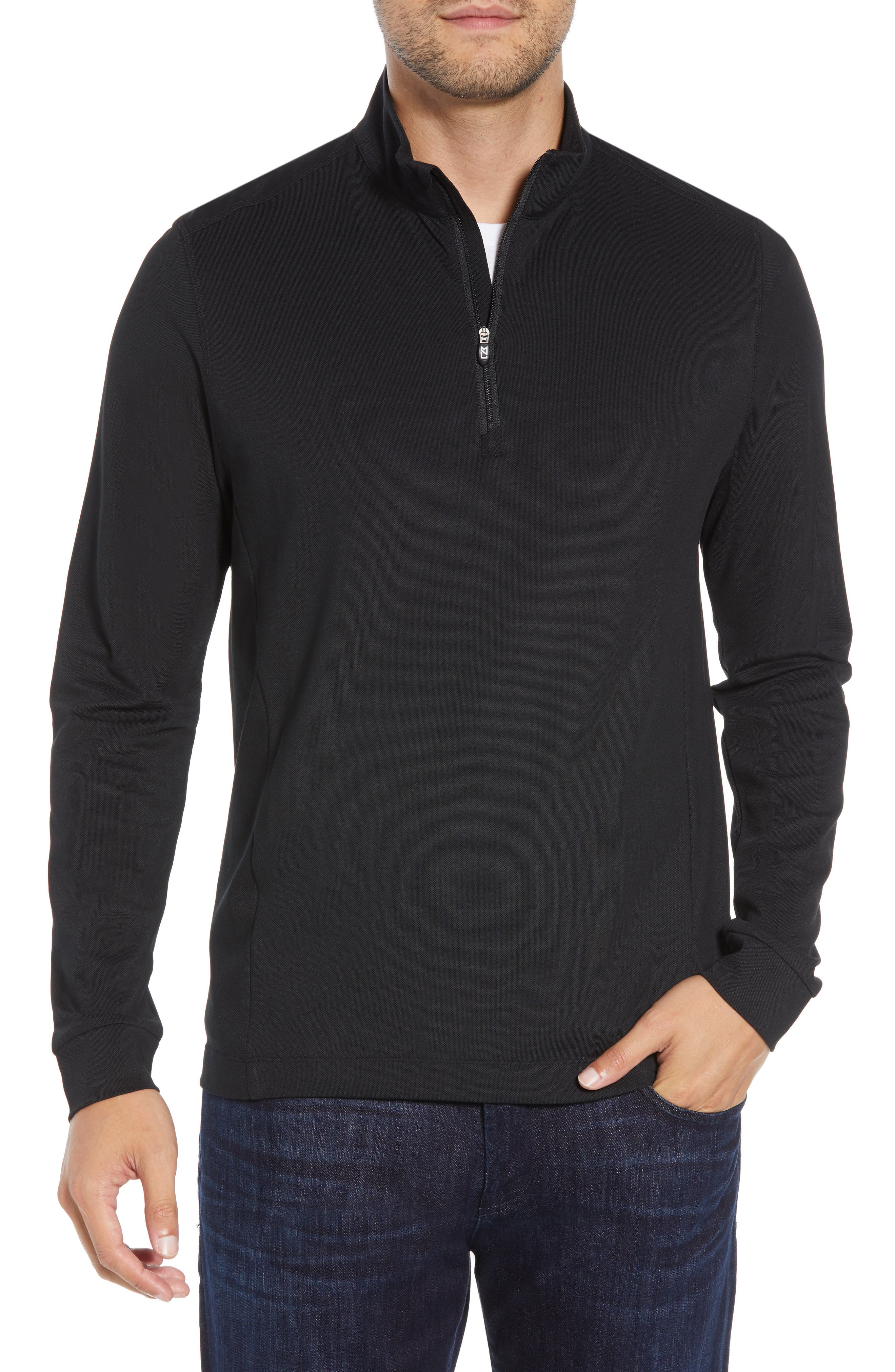 Whether it\\\'s sunny or cool outside, this pullover gives you the advantage to focus on your game with long sleeves and stretchy DryTec fabric with UPF 35+. Style Name: Cutter & Buck Advantage Regular Fit Drytec Mock Neck Pullover. Style Number: 5628337. Available in stores.
