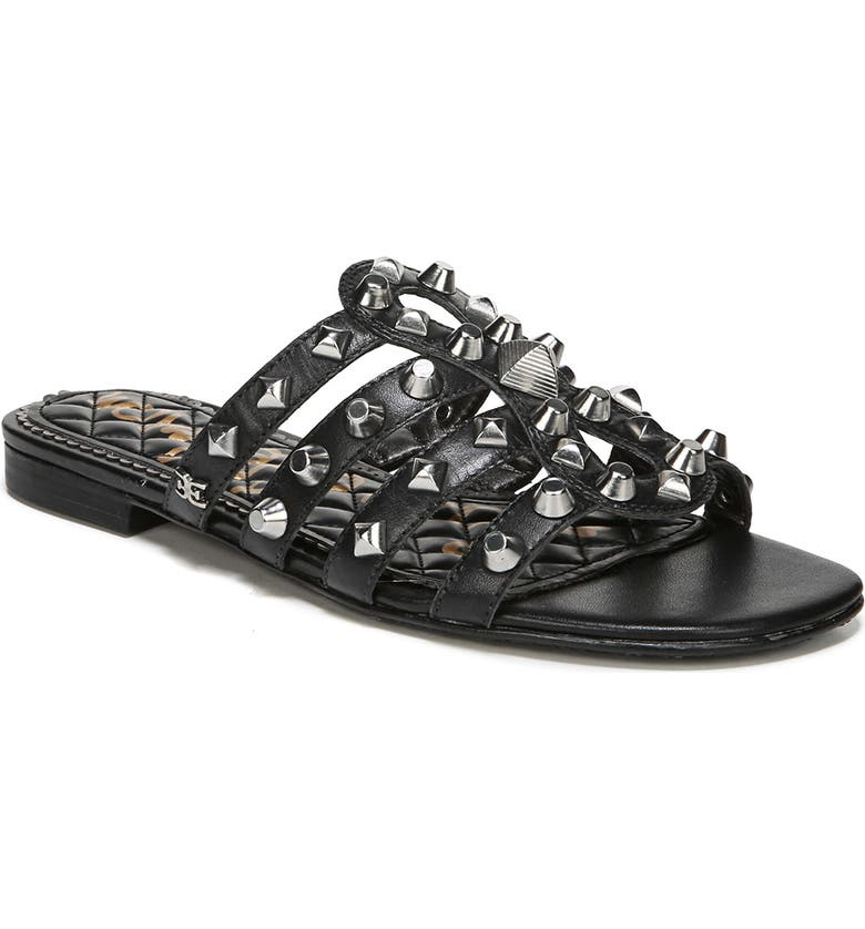 SAM EDELMAN Beatris Slide Sandal, Main, color, BLACK