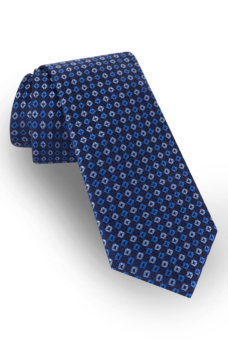 TED BAKER LONDON Geometric Silk Tie, Main, color, BLUE