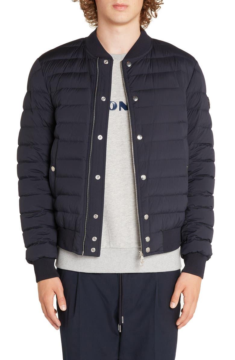 MONCLER Blain Down Jacket, Main, color, DARK BLUE