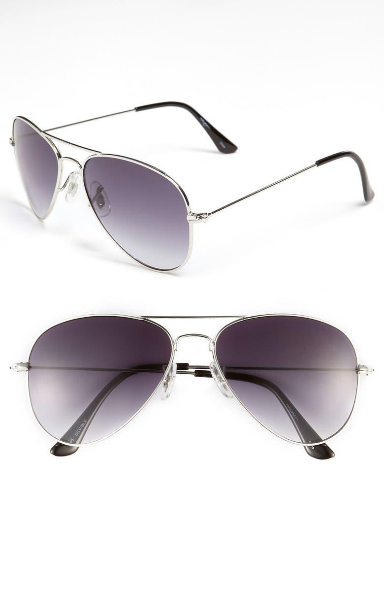 HALOGEN<SUP>®</SUP> Aviator Sunglasses, Main, color, 040