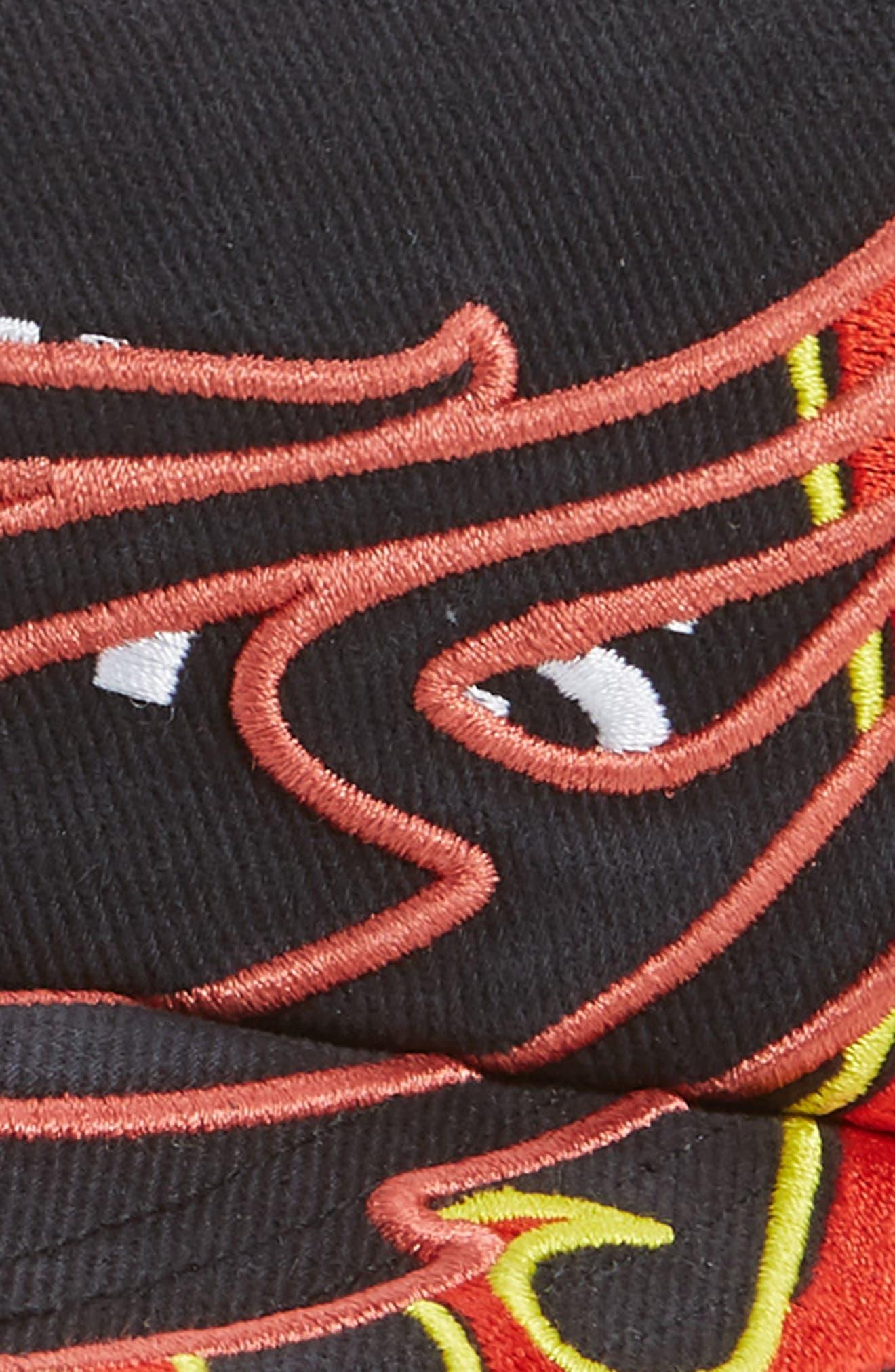 ,                             Fire Logo Baseball Cap,                             Alternate thumbnail 3, color,                             BLACK