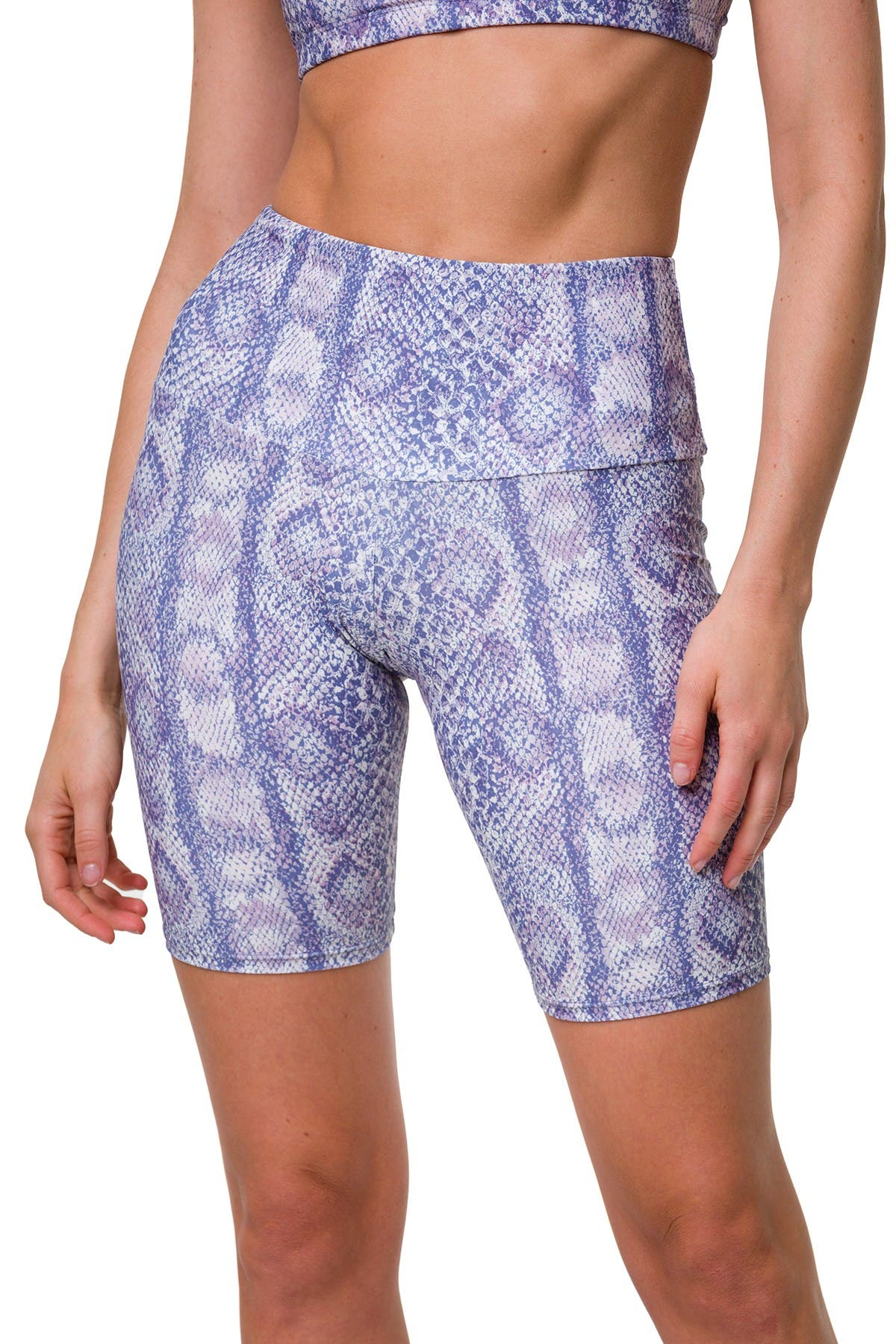 Image of ONZIE Printed High Rise Biker Shorts