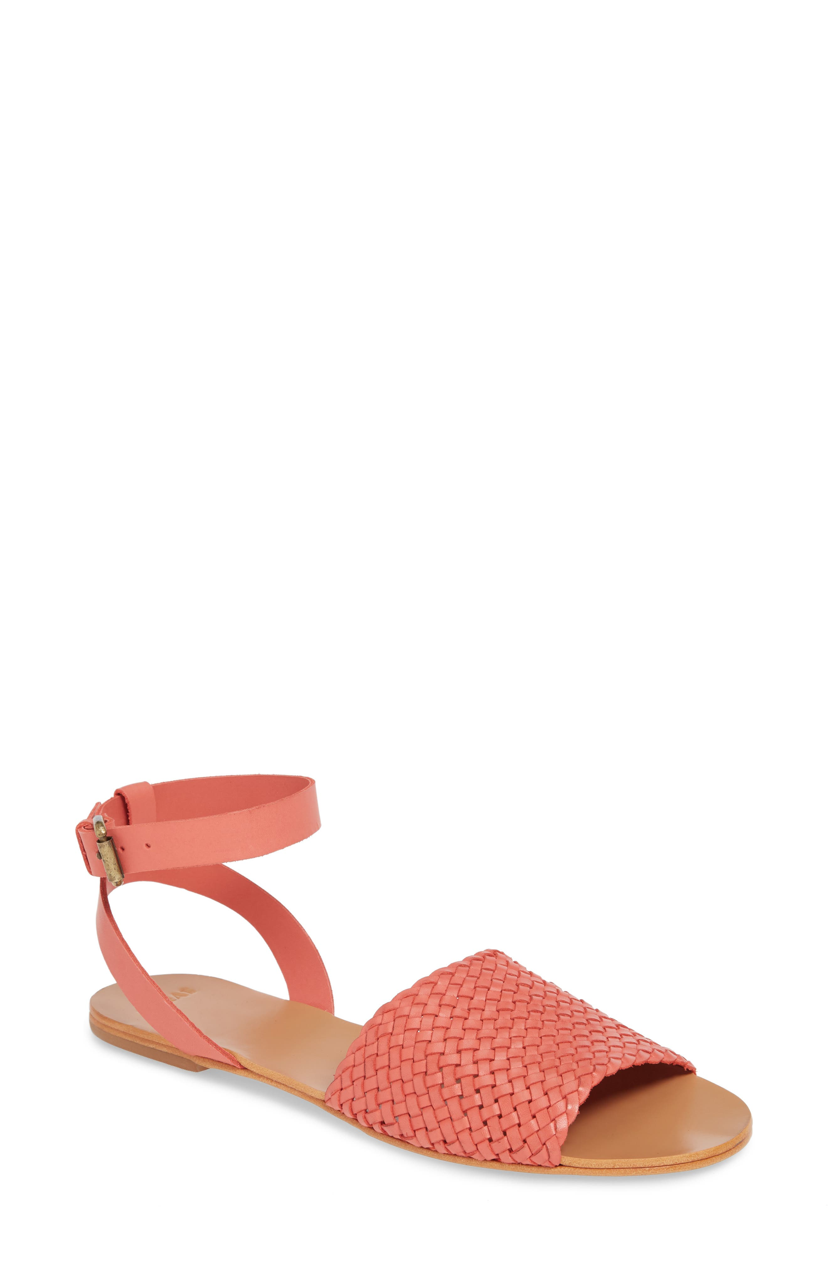 The Great. Caravan Ankle Strap Sandal, Pink
