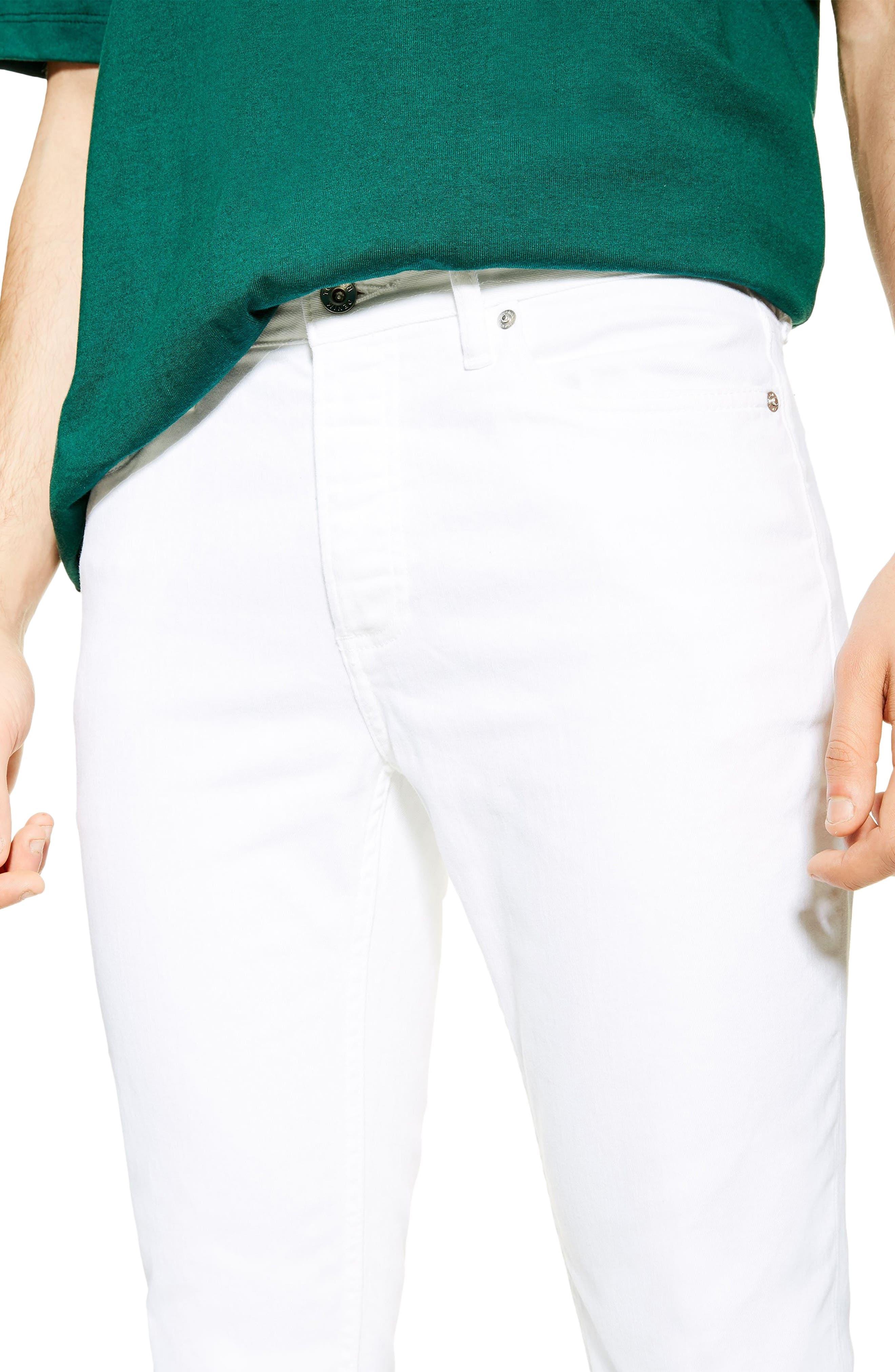 ,                             Slim Fit Stretch Denim Jeans,                             Alternate thumbnail 3, color,                             WHITE