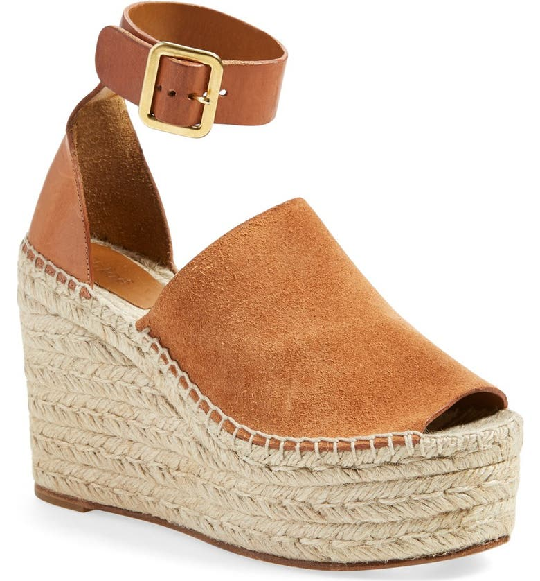 CHLOÉ 'Isa' Espadrille Wedge Sandal, Main, color, 200