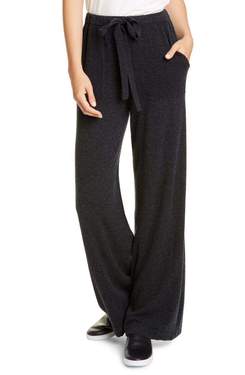 VINCE Wool & Cashmere Wide Leg Pants, Main, color, 001