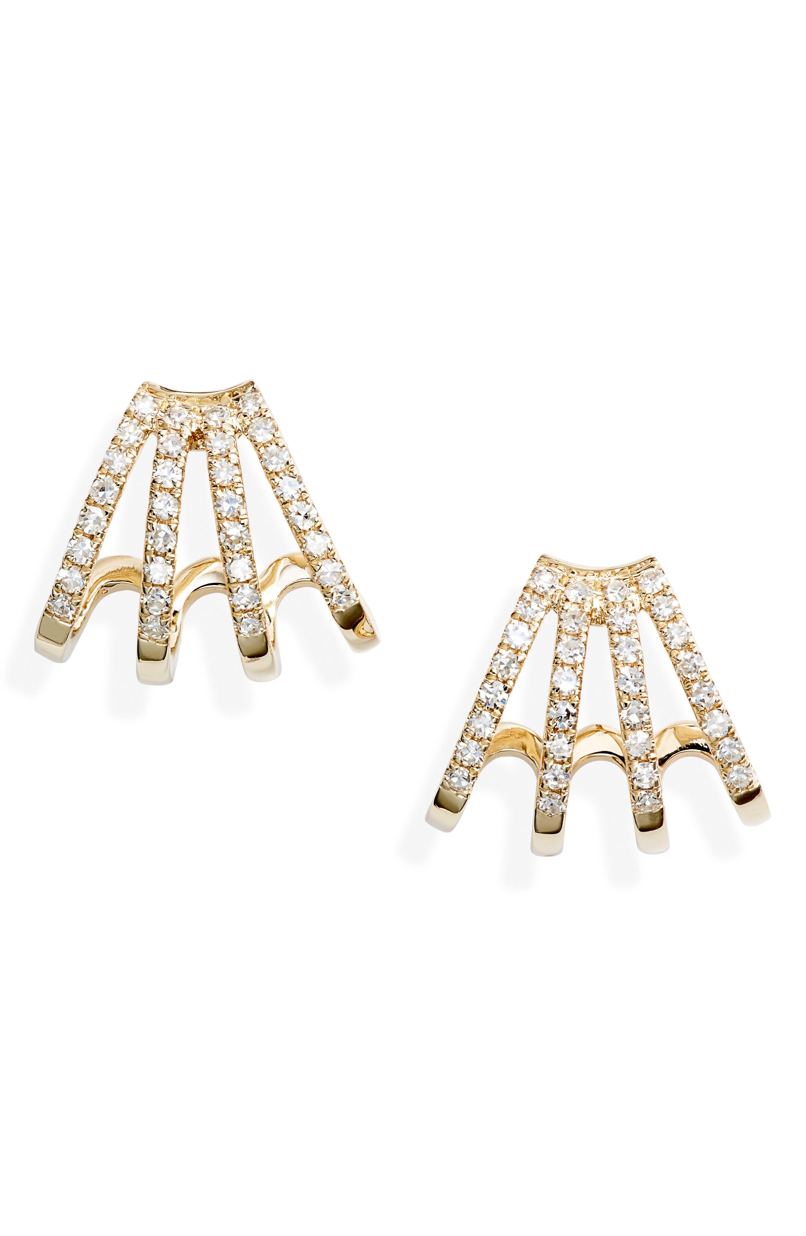 Diamond Multirow Earrings