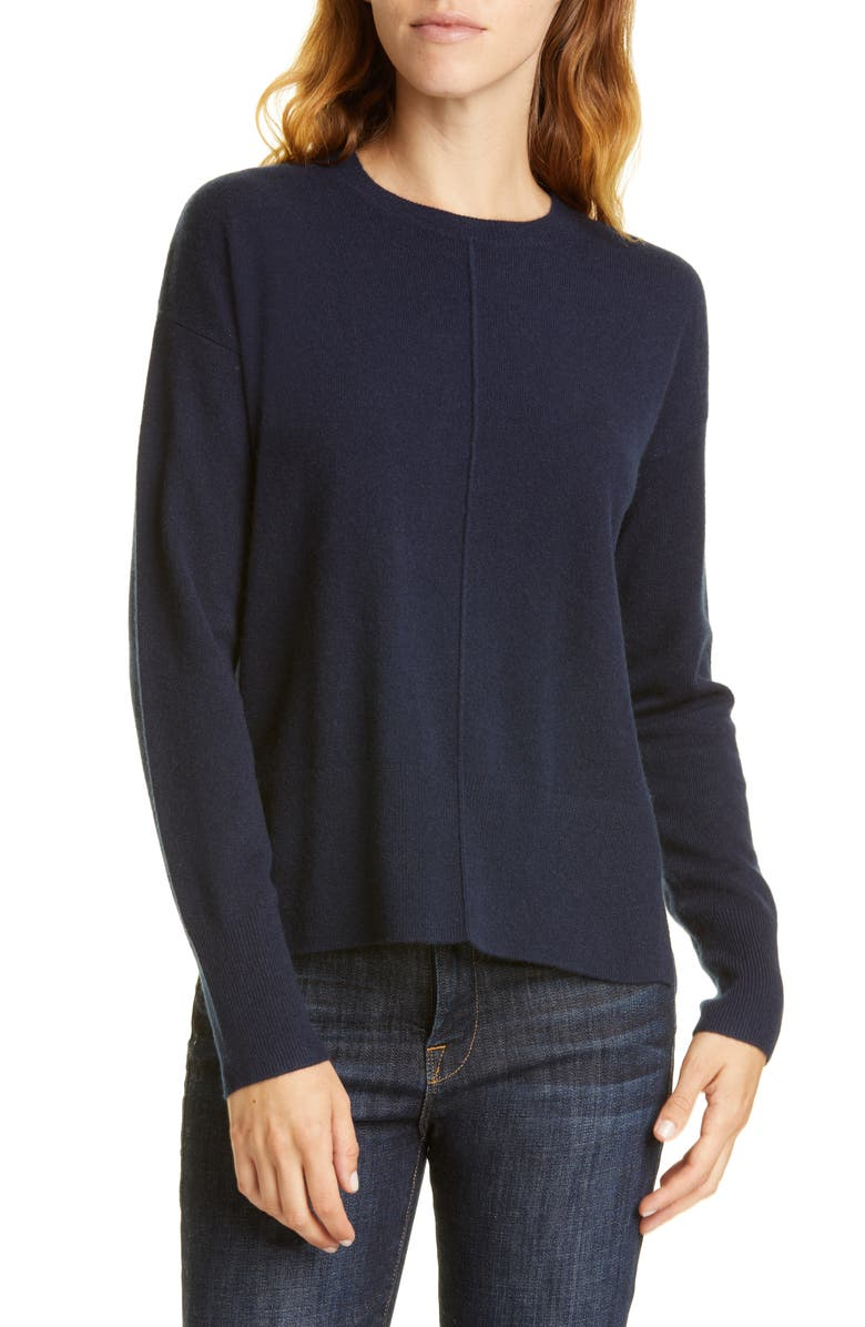 NORDSTROM SIGNATURE Cashmere Pullover, Main, color, NAVY NIGHT