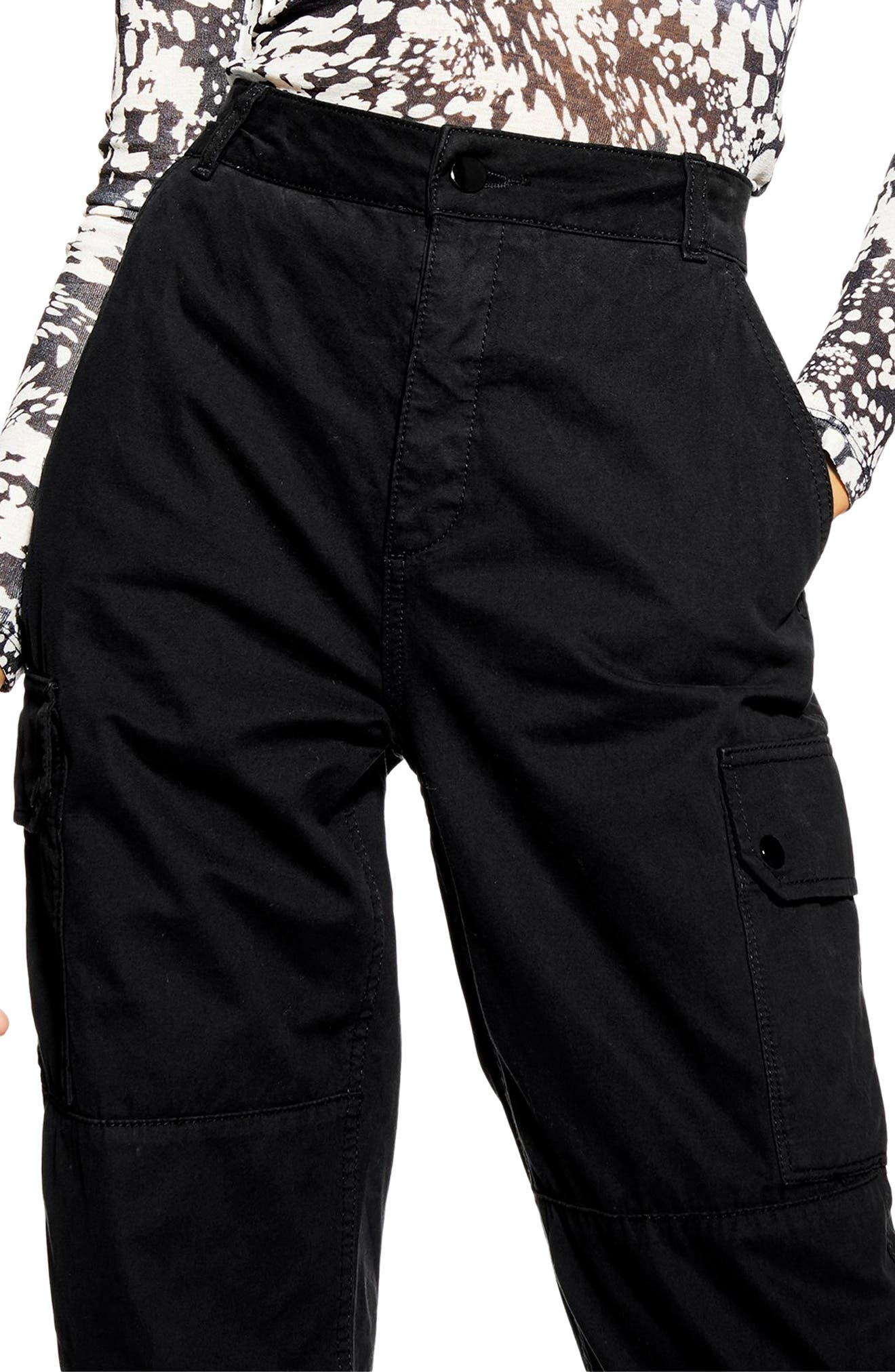 ,                             Tommy Cuff Utility Pants,                             Alternate thumbnail 3, color,                             BLACK