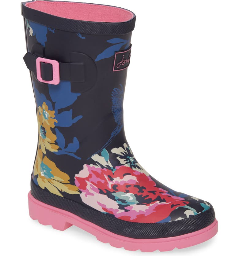 JOULES Mid Height Welly Rain Boot, Main, color, CAMOUFLAGE FLORAL