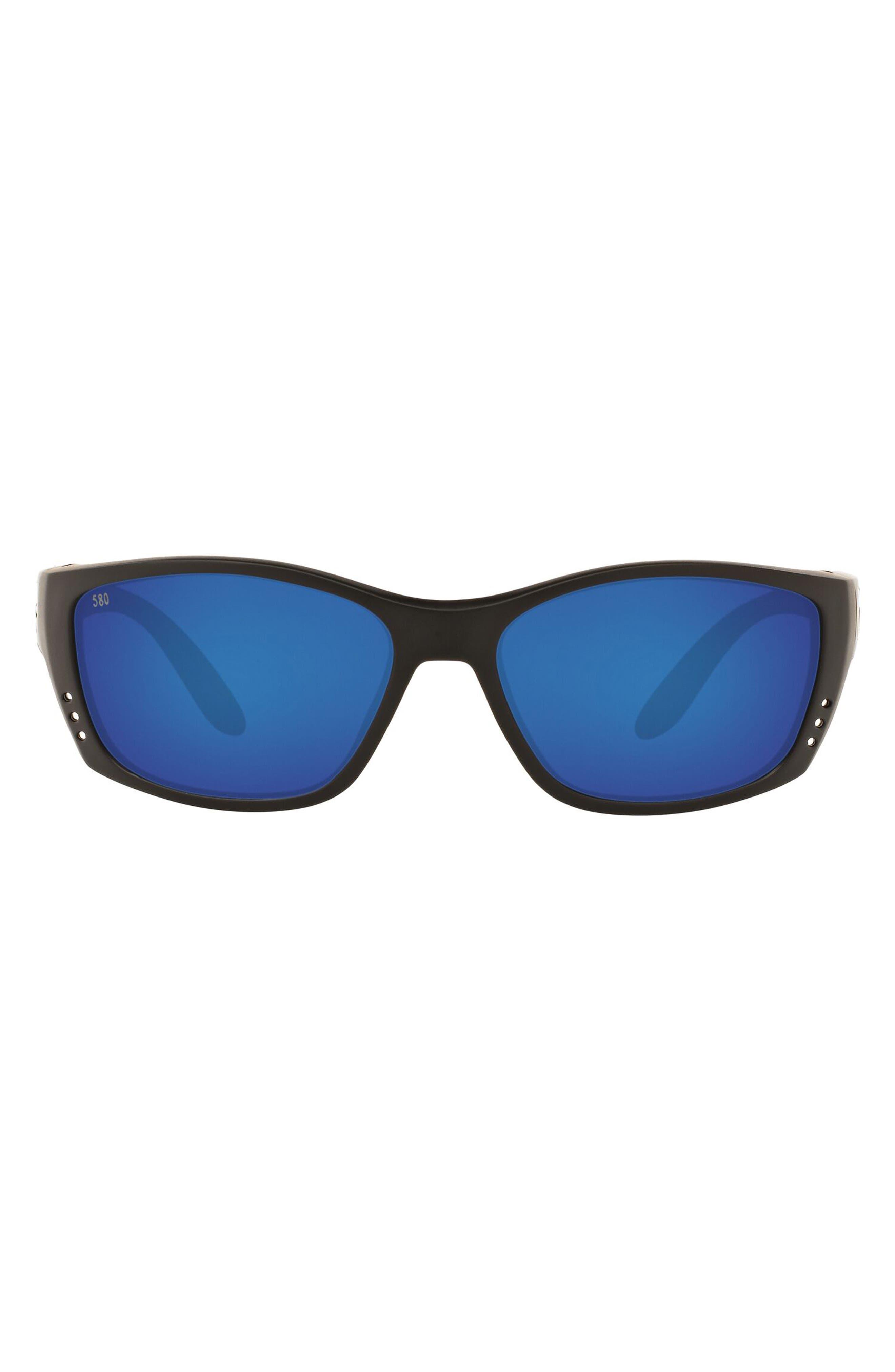 64mm Oversize Polarized Rectangular Sunglasses