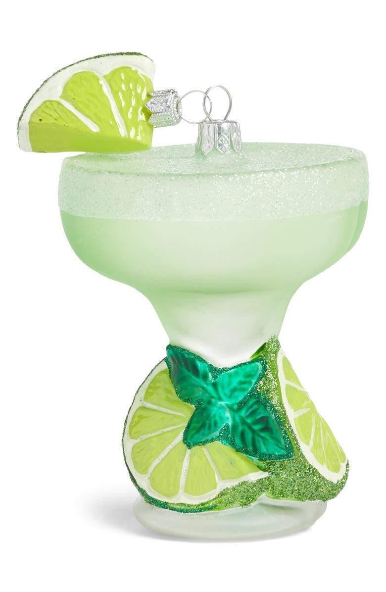 NORDSTROM Handblown Glass Margarita Ornament, Main, color, GREEN MULTI