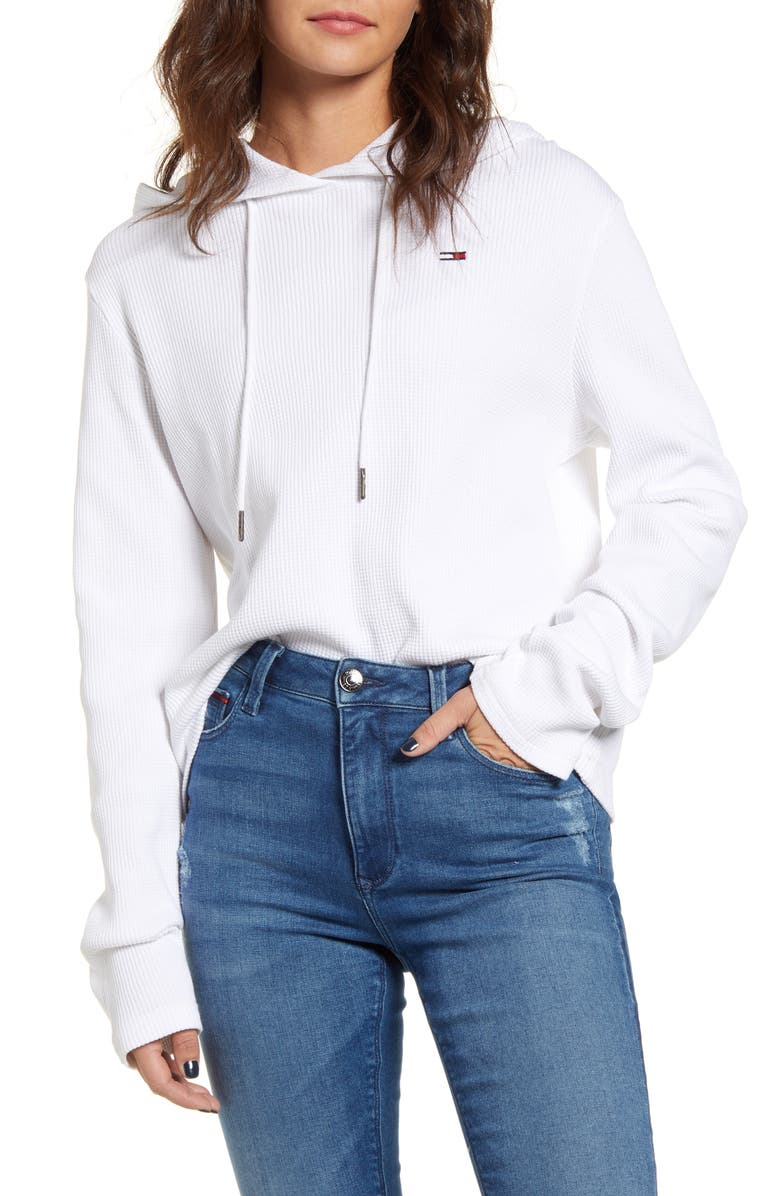 TOMMY JEANS Thermal Hoodie, Main, color, 174