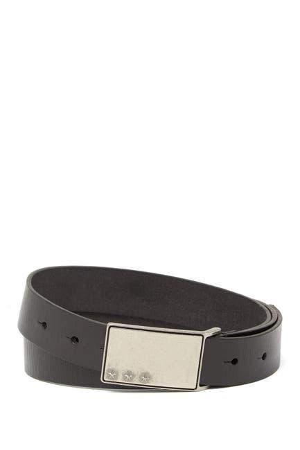 Image of John Varvatos Collection Plaque Leather Belt
