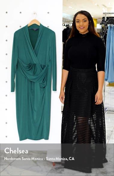 Bret Long Sleeve Faux Wrap Dress, sales video thumbnail