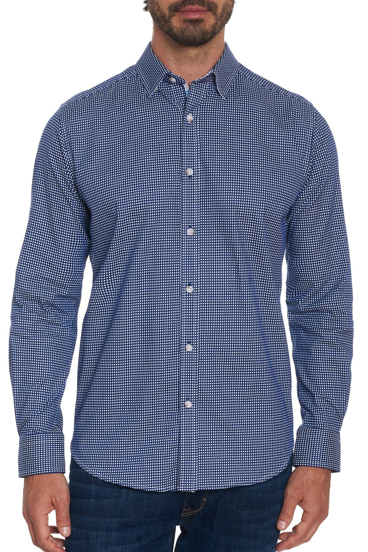 Image of Robert Graham Check Augusto Tailored Fit Shirt