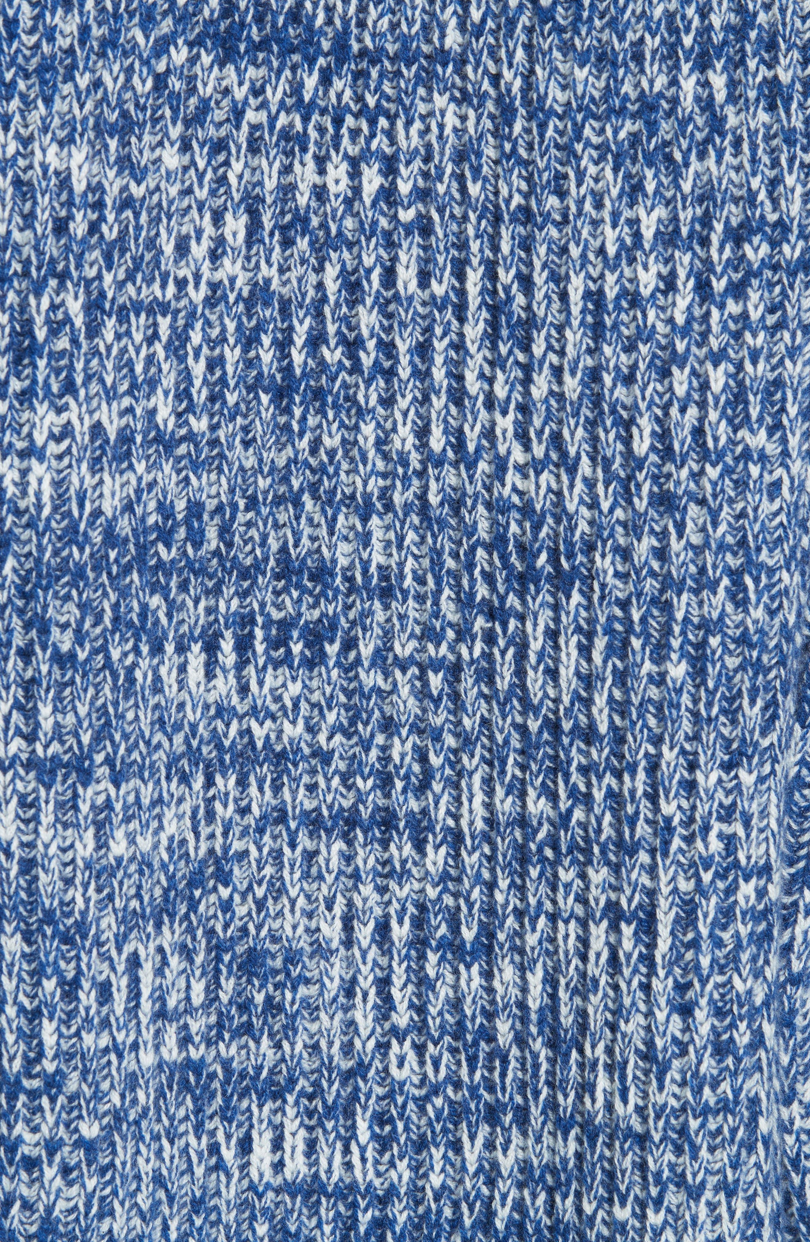 ,                             Mavie Chunky Wool & Cashmere Sweater,                             Alternate thumbnail 5, color,                             BLUE MARL
