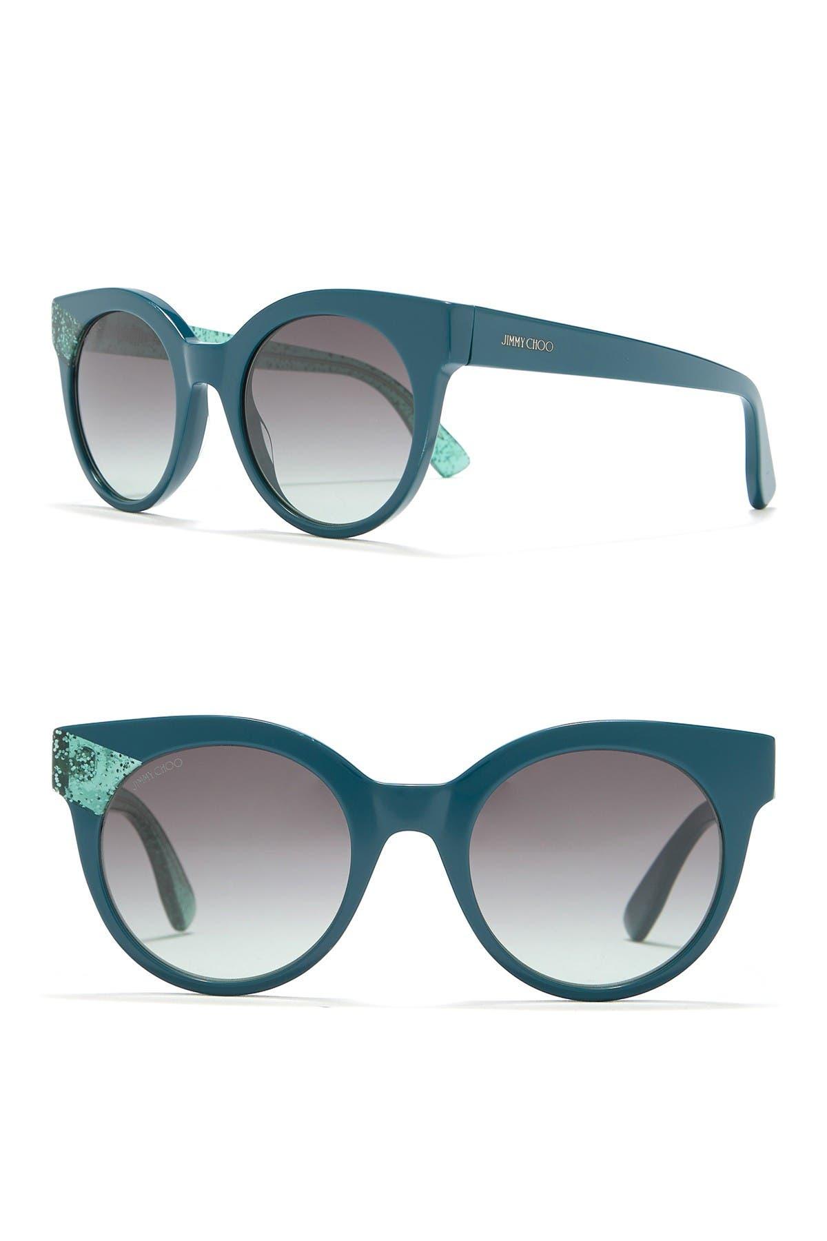 Image of Jimmy Choo Mirta 49mm Round Cat Eye Sunglasses