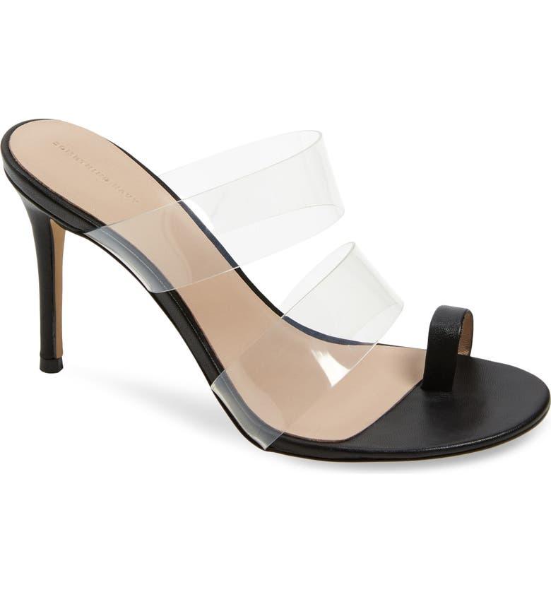 SOMETHING NAVY Flora Dress Sandal, Main, color, BLACK FAUX LEATHER