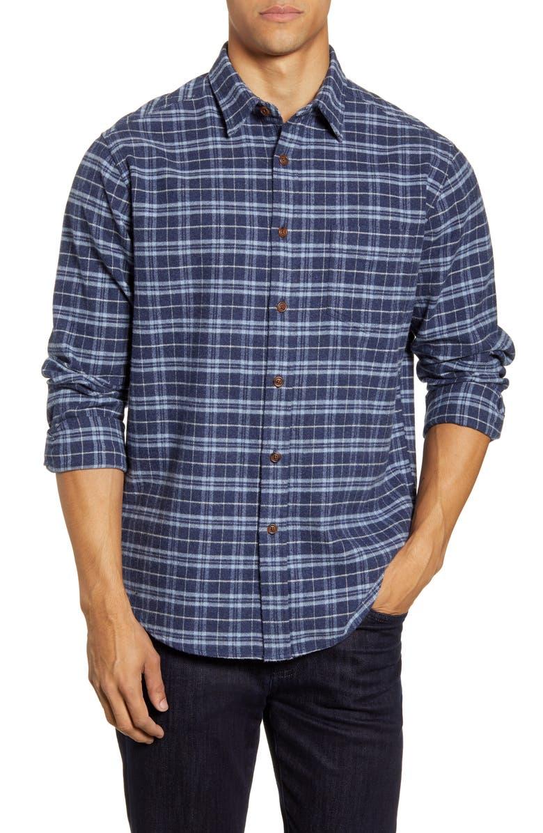 RAILS Forrest Regular Fit Plaid Button-Up Flannel Shirt, Main, color, HEATHER BLUE/ SKY