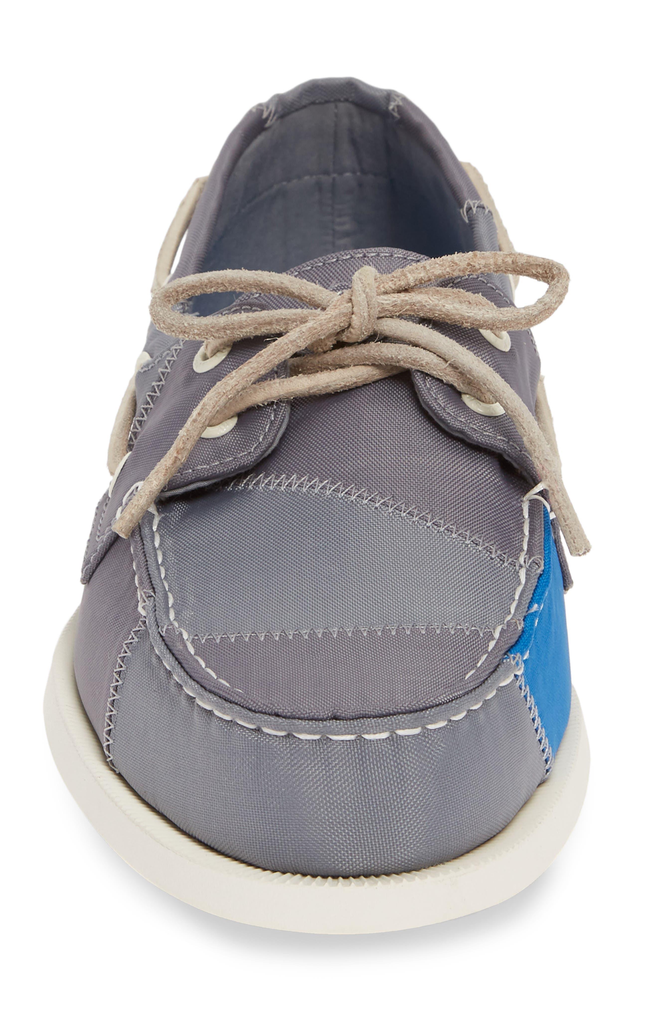 ,                             Authentic Original BIONIC<sup>®</sup> Boat Shoe,                             Alternate thumbnail 4, color,                             GREY/ BLUE