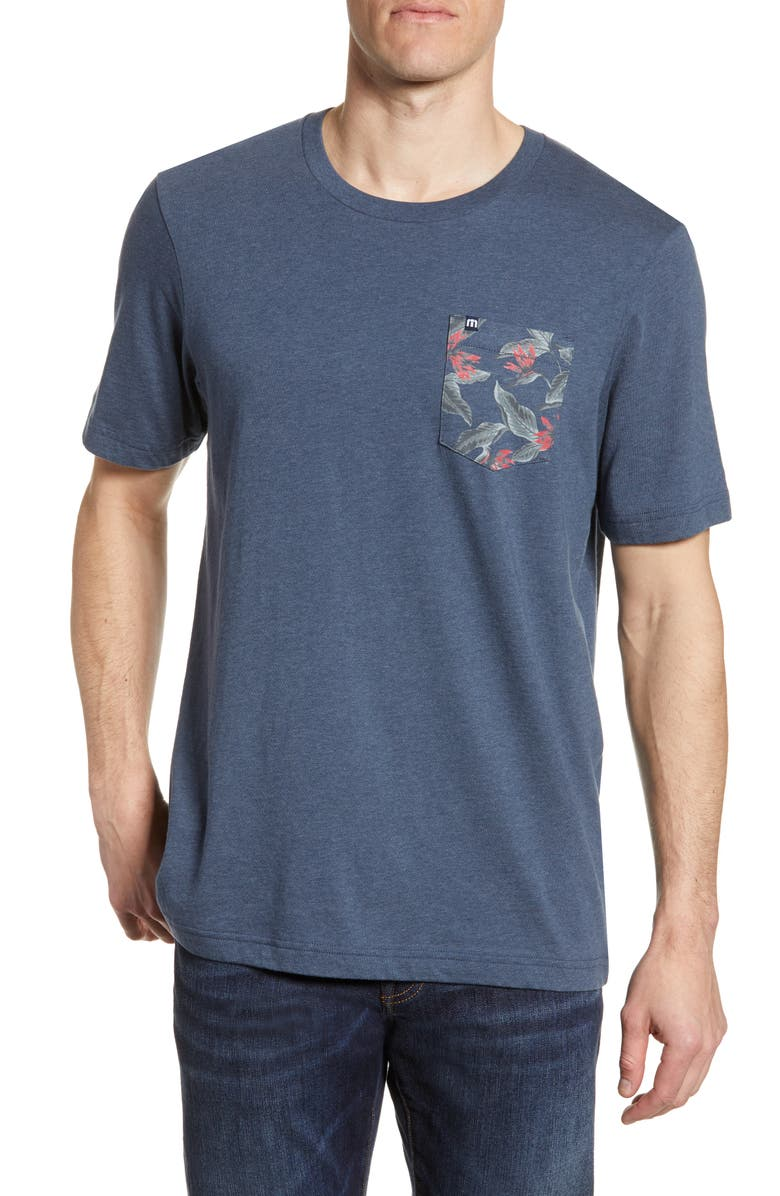 TRAVISMATHEW Don't Tell My WiFi Pocket T-Shirt, Main, color, HEATHER BLUE NIGHTS