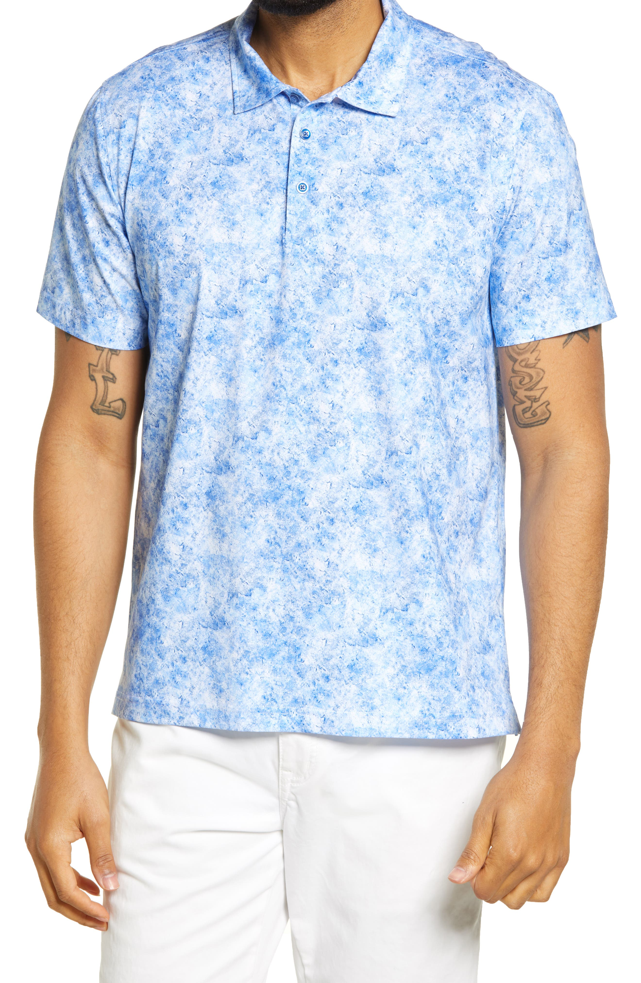 Ooohcotton Tech Marbled Knit Polo