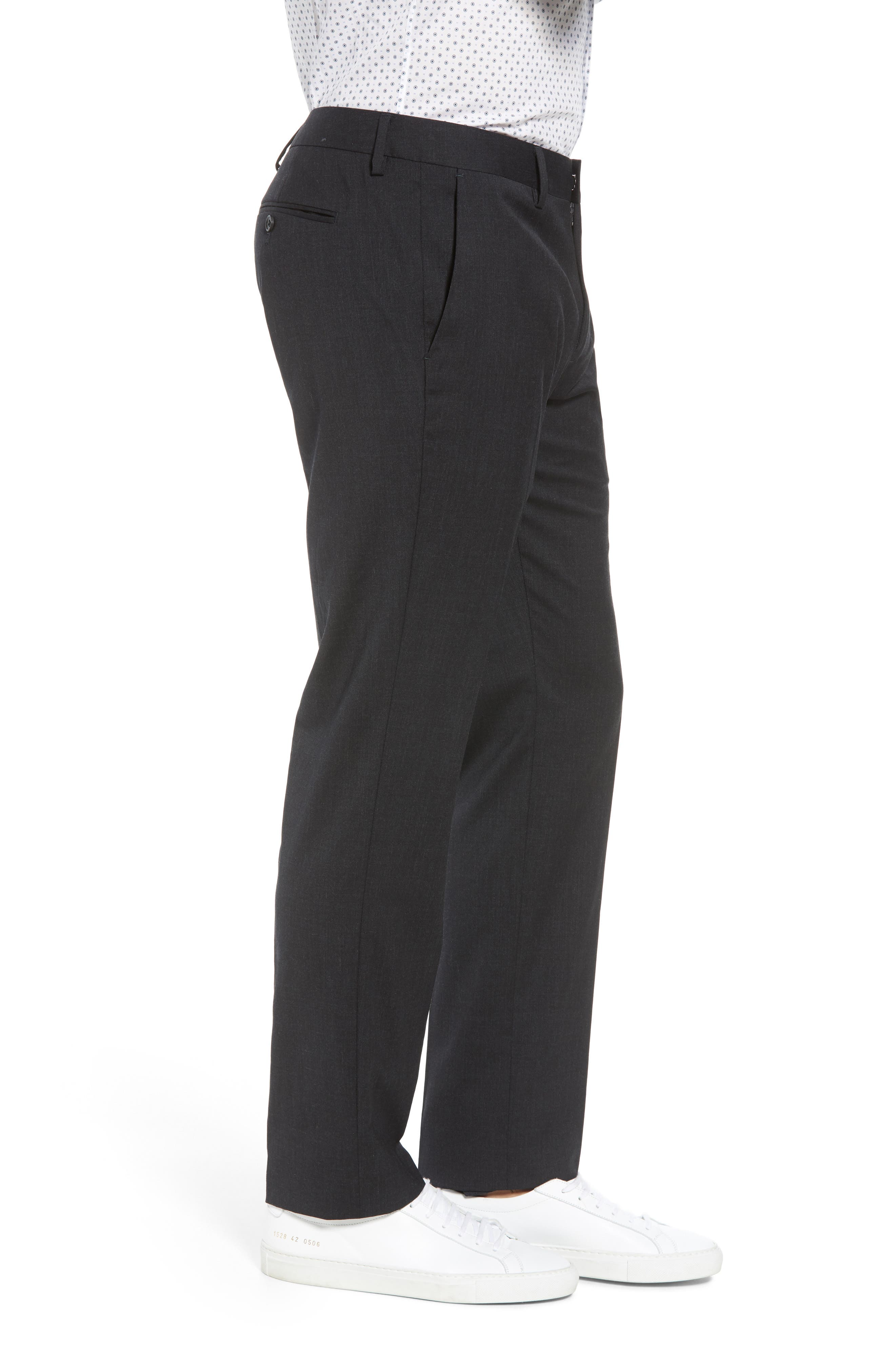 ,                             Jetsetter Slim Fit Flat Front Stretch Wool Trousers,                             Alternate thumbnail 15, color,                             021