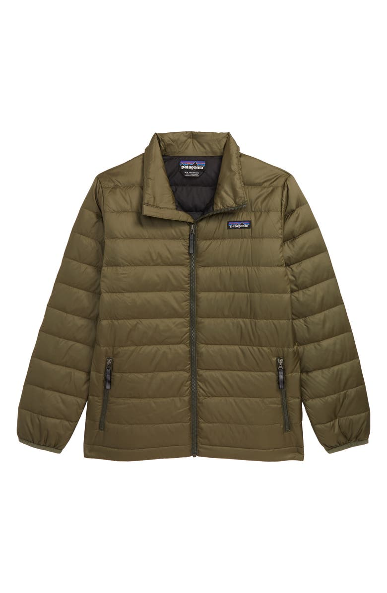 PATAGONIA Recycled 600 Fill Power Down Jacket, Main, color, INDUSTRIAL GREEN