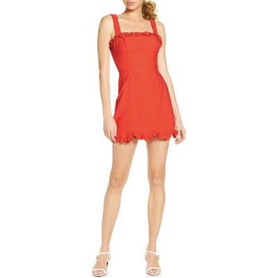 Finders Keepers Chiquita Ruffle Minidress, Red