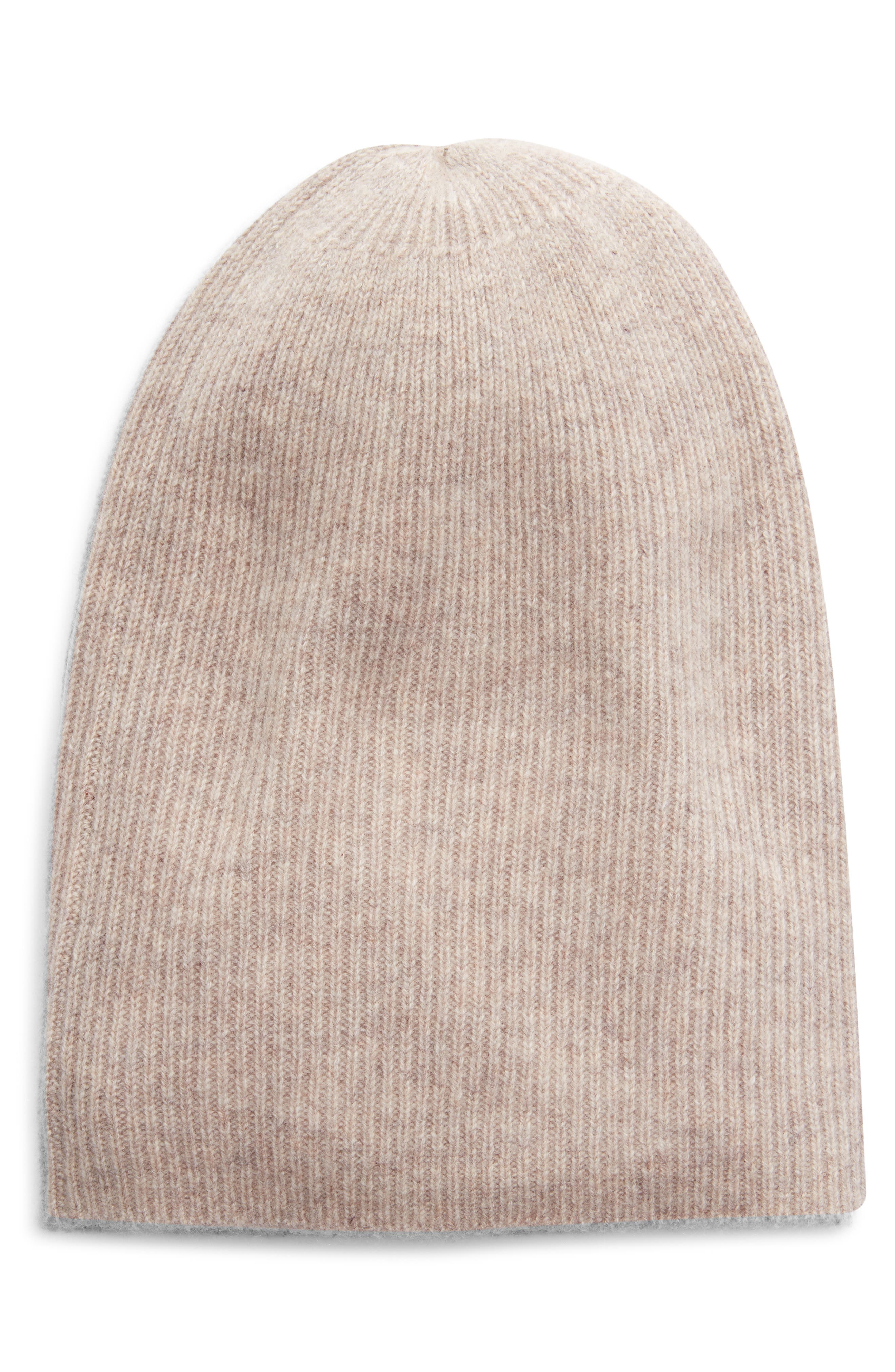 A ribbed beanie knit from soft cashmere is an out-the-door essential once the snowflakes start drifting down. Style Name: Halogen Ribbed Cashmere Beanie. Style Number: 6080842. Available in stores.