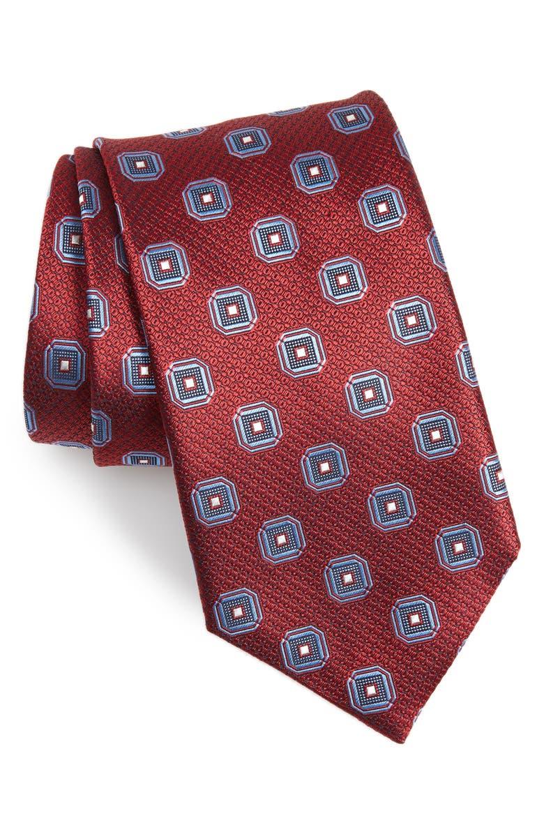 CANALI Medallion Silk X-Long Tie, Main, color, 600